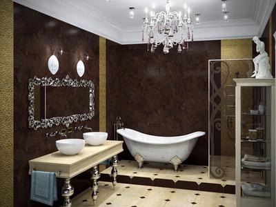 Salle de bains extravagante innovez dans votre coin salle - Salle de bain avec baignoire sur pied ...